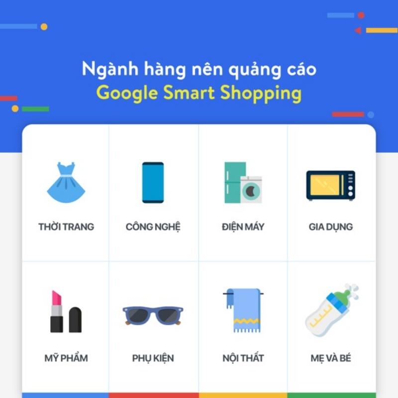 Ngành hàng nên quảng cáo Google Smart Shopping