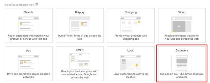 Chiến dịch Discovery hiện có sẵn trên Google Ads.