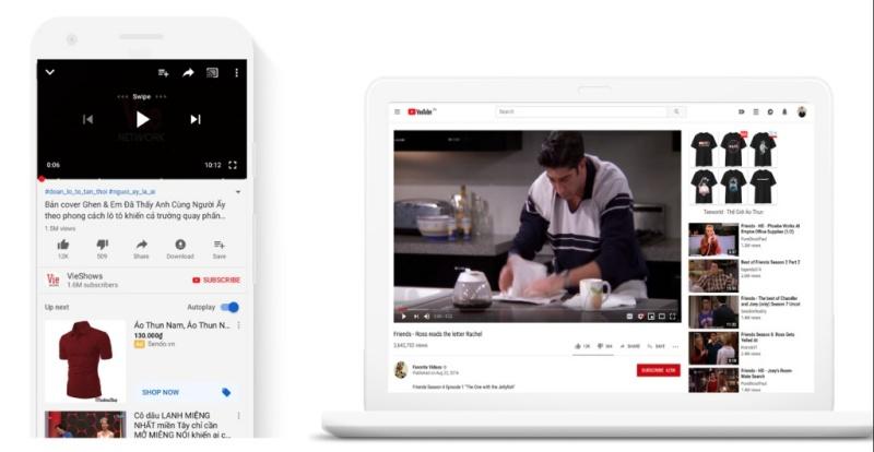 Quảng cáo Google Smart Shopping còn phân phối trên kênh Youtube
